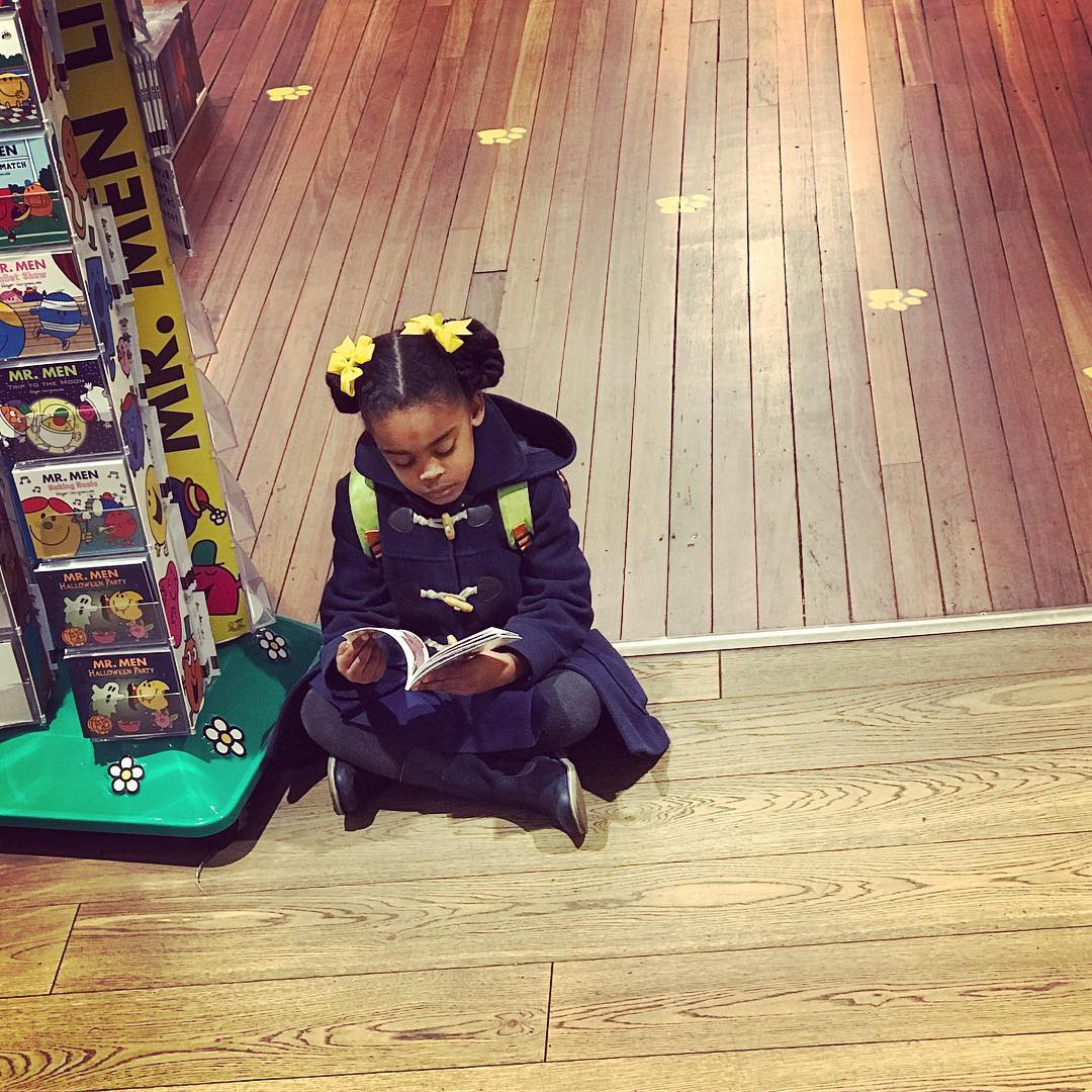 This little girl reading foylesforbooks made my day she washellip