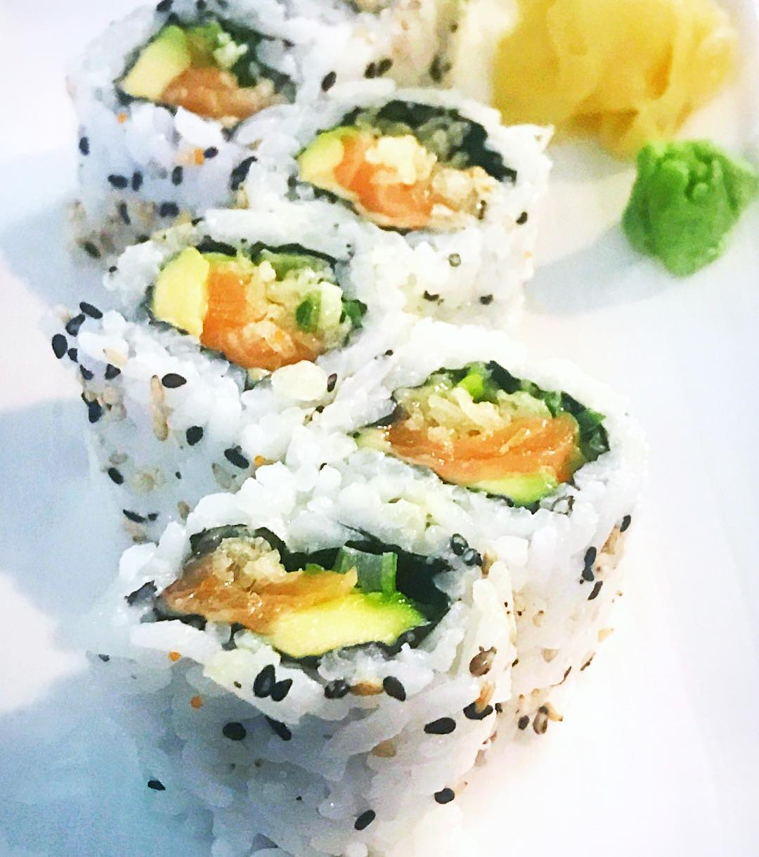 Sushi at ichibansushibrixton is guiltless pleasure this salmon roll ishellip