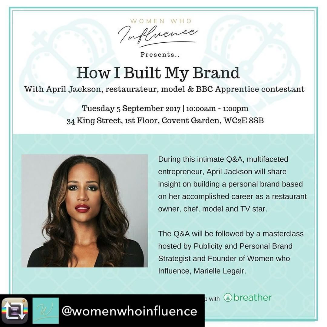Repost from womenwhoinfluence  London ladies join me for anhellip